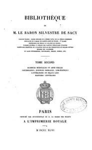 Biblioth  que de M  le baron Silvestre de Sacy  appendice  SJ AK 085 PDF