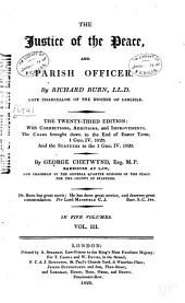 The Justice of the Peace and Parish Officer: Volume 3