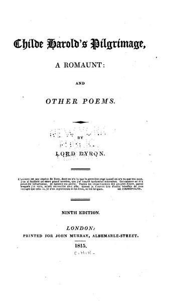 Download Childe Harold s Pilgrimage  a Romaunt Book