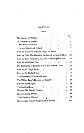 The Keen of the South of Ireland: As Illustrative of Irish Political and Domestic History, Manners, Music, and Superstitions, Volume 1