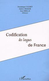 Codification des langues de France