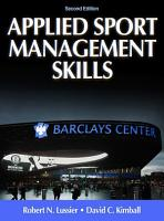 Applied Sport Management Skills 2nd Edition PDF