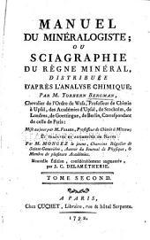 Manuel du minéralogiste: ou, Sciagraphie du règne minéral distribuée d'après l'analyse chimique, Volume2