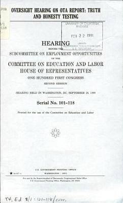Oversight Hearing on OTA Report PDF
