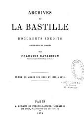 Archives de la Bastille: 1681, 1665-1674