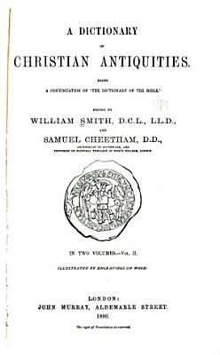 A Dictionary of Christian Antiquities  Kal Zoe