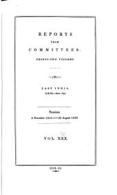Parliamentary Papers, House of Commons and Command: Volume 30