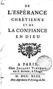 De l'espérance chrétienne et de la confiance en Dieu [by R. Morel].