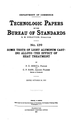 Technologic Papers of the Bureau of Standards: Issues 139-145