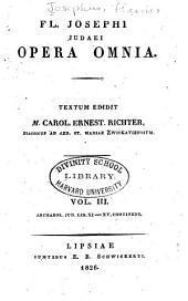 Fl. Josephi Opera omnia: Τόμοι 3-4