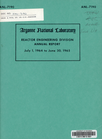 Reactor Engineering Division Annual Report