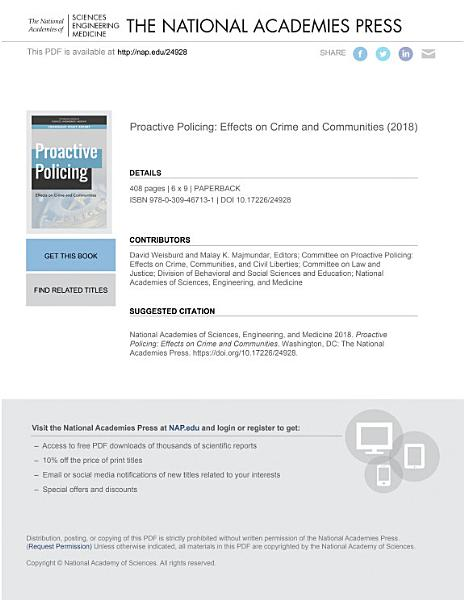 Download Proactive Policing Book