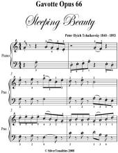 Gavotte Opus 66 Sleeping Beauty - Easy Piano Sheet Music
