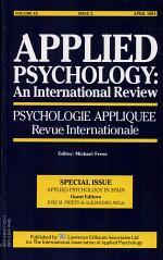Applied Psychology in Spain
