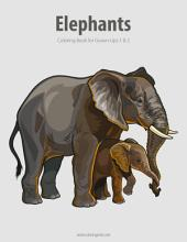 Elephants Coloring Book for Grown-Ups 1 & 2
