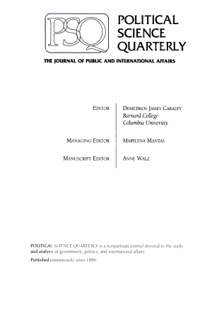 Political Science Quarterly PDF