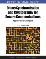 Chaos Synchronization and Cryptography for Secure Communications  Applications for Encryption PDF