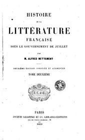 Histoire de la littérature française sous le gouvernement de juillet