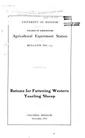 Rations for Fattening Western Yearling Sheep