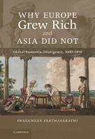 Why Europe Grew Rich and Asia Did Not PDF