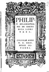 De Rhetorica libri tres