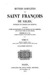 Oeuvres complètes de Saint François Sales: Sermons, première partie, depuis l'avent jusqu'au sixième dimanche après paques