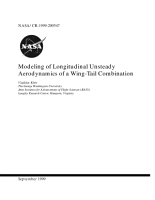Modeling of longitudinal unsteady aerodynamics of a wingtail combination PDF