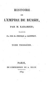 Histoire de l'empire de Russie: Volume3