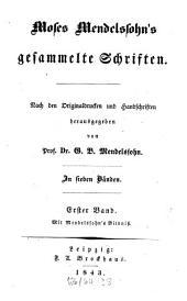 Gesammelte Schriften: in sieben Bänden, Band 1