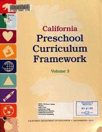 California Preschool Curriculum Framework  History Social Science  Science PDF