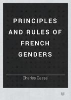 The Principles and Rules of French Genders PDF