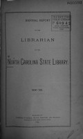 Biennial Report of the Librarian of the North Carolina State Library PDF