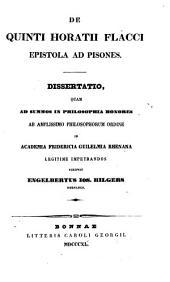 De Quinti Horatii Flacci Epistola ad Pisones