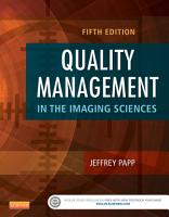 Quality Management in the Imaging Sciences PDF