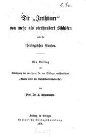 """¬Die """"Irrtümer"""" von mehr als vierhundert Bischöfen und ihr theologischer Zensor"""