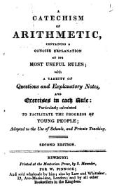 A catechism of arithmetic: Volume 1
