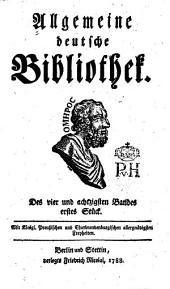 Allgemeine deutsche Bibliothek: Band 84