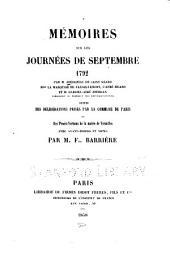 Mémoires sur les journées de septembre 1792