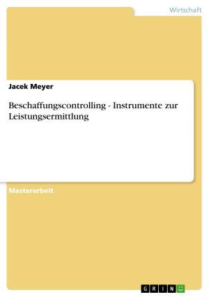 Beschaffungscontrolling   Instrumente Zur Leistungsermittlung PDF