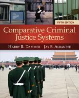 Comparative Criminal Justice Systems PDF