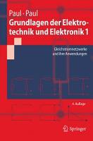 Grundlagen der Elektrotechnik und Elektronik 1 PDF