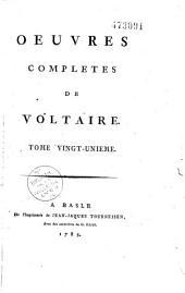 Oeuvres complètes de Voltaire: Volume11