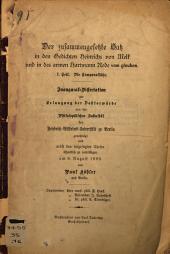 Der zusammengesetzte Satz in den Gedichten Heinrichs von Melk und in des armen Hartmann Rede von glouben: I. Teil. Die Temporalsätze