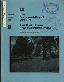 Dixie National Forest  N F    Duck Creek Swains Access Management Project PDF