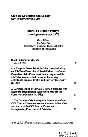 Chinese Education and Society PDF