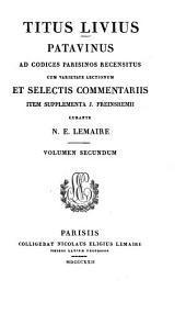 Titus Livius Patavinus: Liber 4 - 8, Volume 2