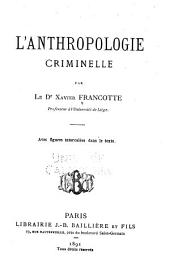 L'anthropologie criminelle