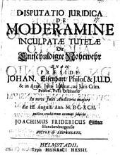 Disp. iur. de moderamine inculpatae tutelae, die entschuldigte Nohtwehr