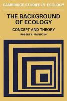 The Background of Ecology PDF