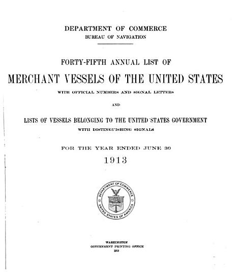Annual List of Merchant Vessels of the United States PDF